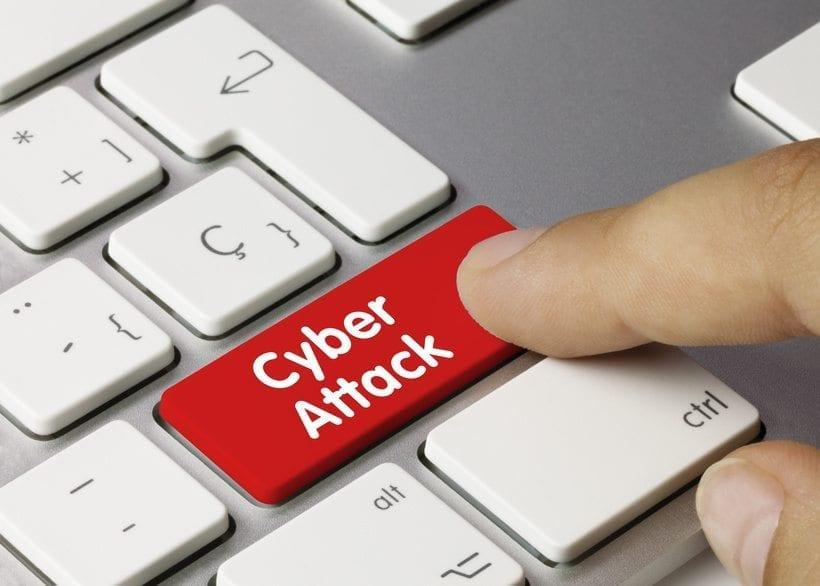 Cyber Attack. Keyboard