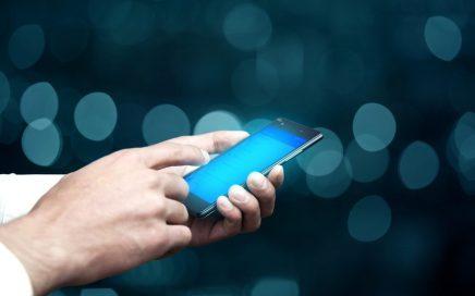 businessman hand smart phone