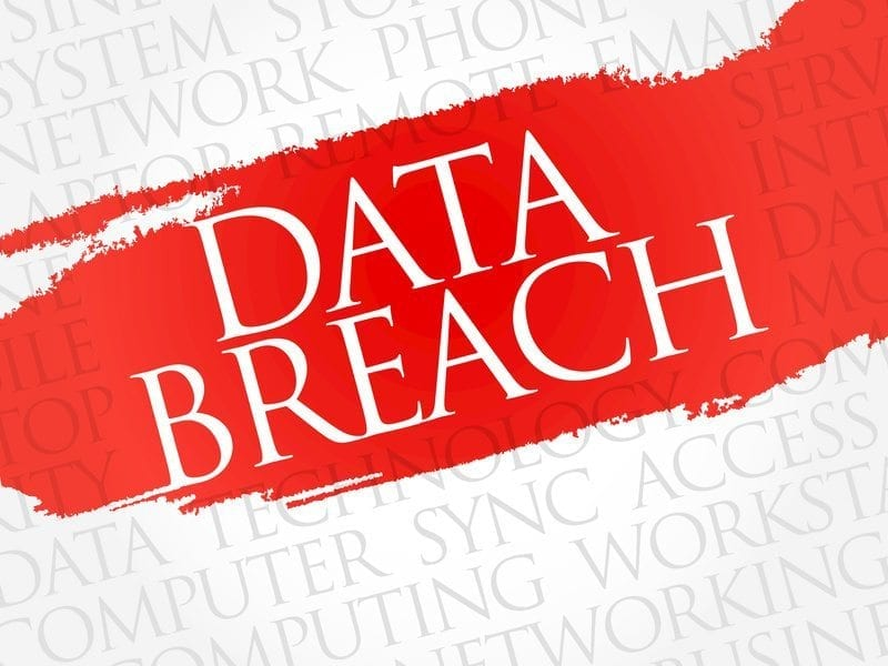 Data Breach word cloud concept